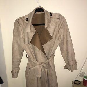 Jackets & Blazers - Suede Trenchcoat